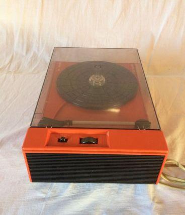 tourne-disques orange RADIOLA vintage