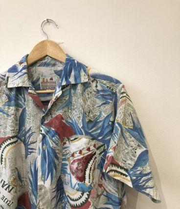 Chemise vintage à motifs colorés