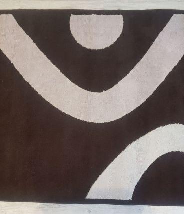 Tapis Moderne Nios marron et crème neuf