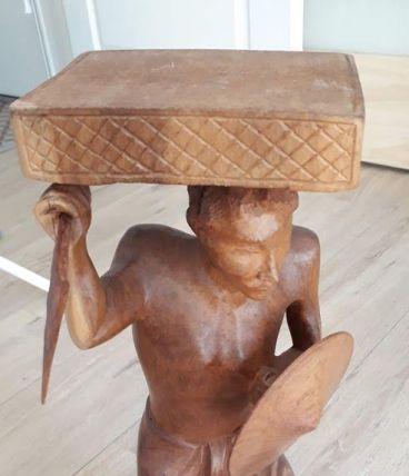 Sculpture  vintage, bois de Madagascar