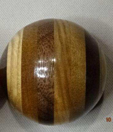 Boule vintage de levier de vitesse bois multicolore 3