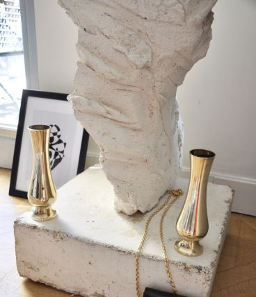 2 vases en laiton