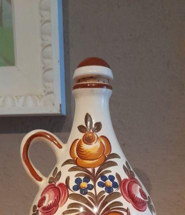 Carafe ancienne motif fleurs, Ulmer Allemagne