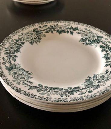 5 Assiettes plates St-Amand Guadeloupe