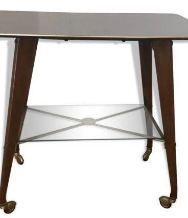 Table en verre et formica