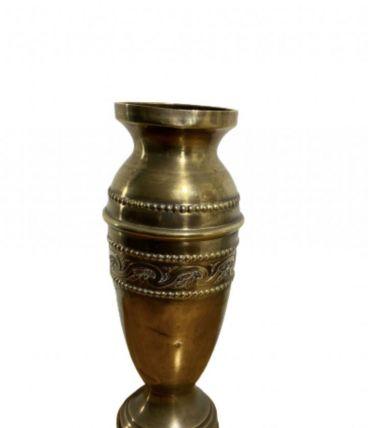 Petit vase en laiton ancien