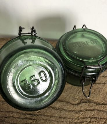 Paire de petits bocaux DURFOR -350 ml