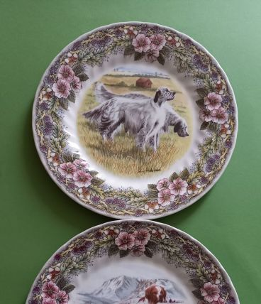 Deux assiettes made in England.