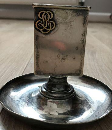 porte briquet métal argenté