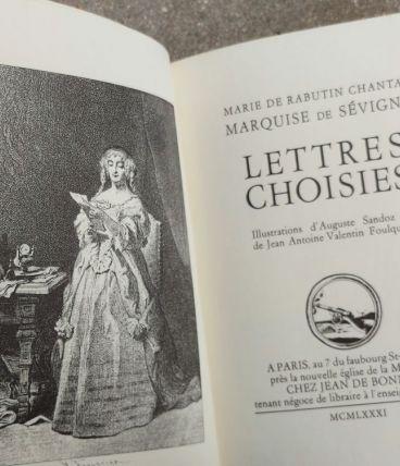 Livre collection Jean de Bonnot-Lettres de Mme de Sévigné