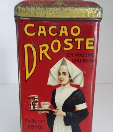 Boite en fer Cacao Droste ancienne