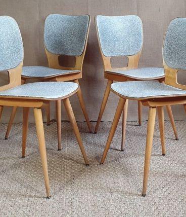 Set 4 chaises BAUMANN n°800 Max BILL