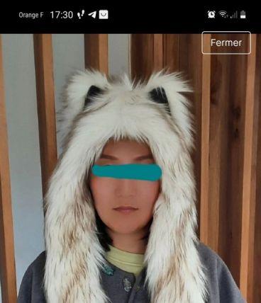 Bonnet eco fourrure enfant/ado