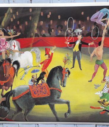 Affiche scolaire chambre d'enfant le cirque