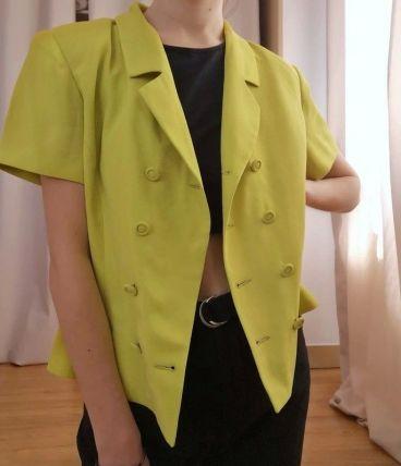Veste de tailleur couleur anis - Vintage