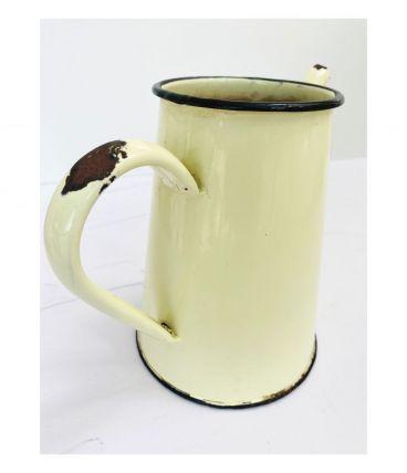Ancienne Pot/Cafetière Vintage en tôle émaillée