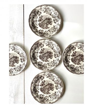6 assiettes a dessert Vintage Style Anglais, Ironstone Table