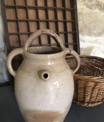 Pot / jarre en grès à trois anses, vinaigrier