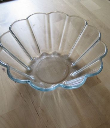 moule a charlotte en verre pyrex vintage