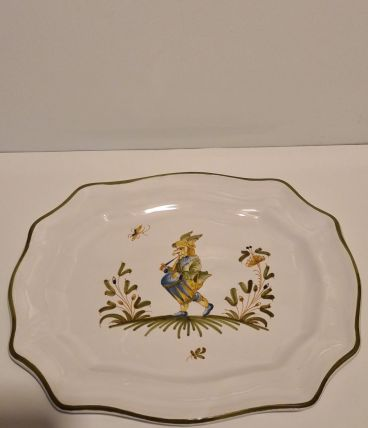Assiette décorative Féret à Moutiers décor de Grotesque