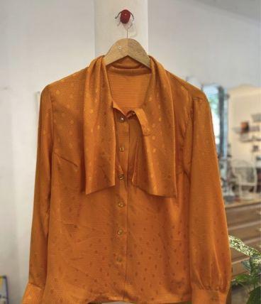 Blouse vintage orange