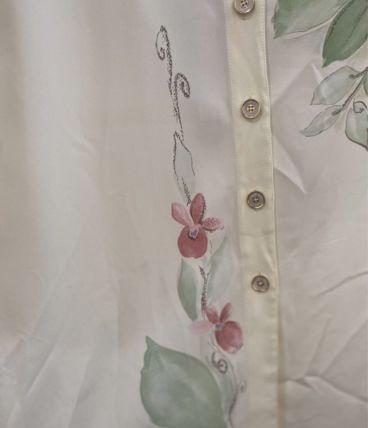 Chemise vintage à motif fleurs