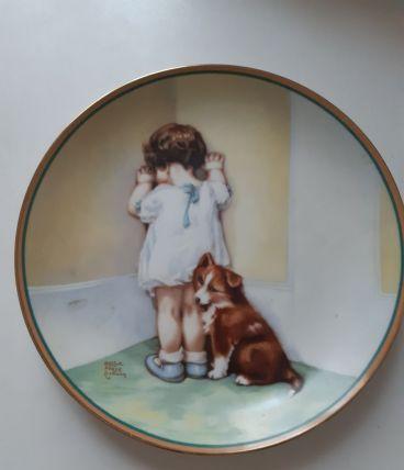 Assiette en porcelaine Anglaise A Child's Best Friend