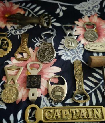 LOT de  décapsuleurs métal et Bronze