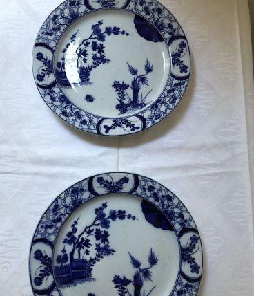 2 assiettes JAPON Creil Montereau