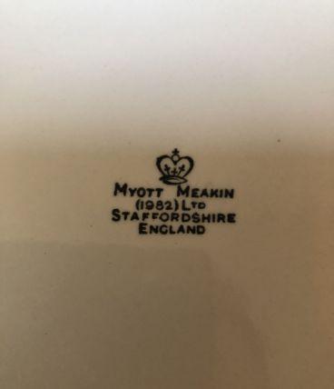 Assiettes plates Myott Meakin 1982