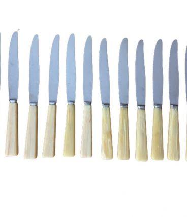 Série de 12 grands couteaux de table  vintage