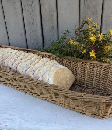 Panière à pain en osier tressé, format XXL