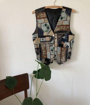 Gilet motif patchwork