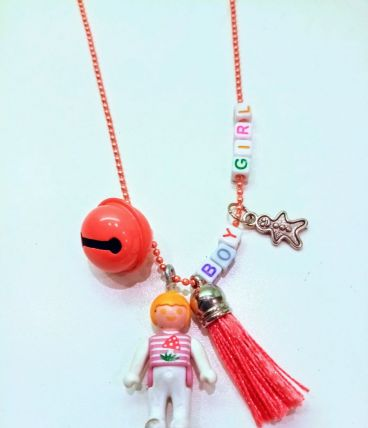 Collier Bola de grossesse orange Playmobil