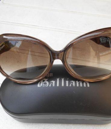 lunettes vintage galliano neuf  kaki