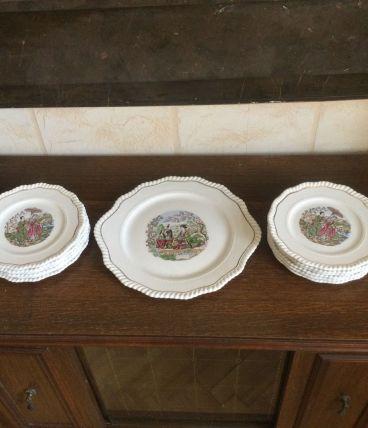 Service à gâteau porcelaine, 12 couverts