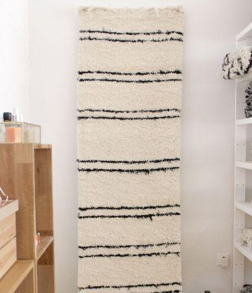 Tapis 70 x 220 cm - Blanc et noir