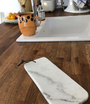 Planche à découper marbre longue
