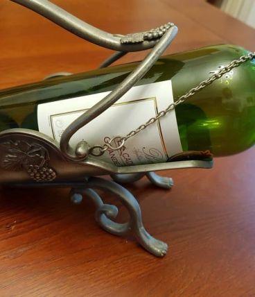 Porte-bouteille en étain