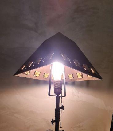 Lampe  Brutaliste    60x30 cm Mid-Century en Fer artisanal,