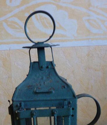 Ancienne lanterne de cave en fer lampe à bougie