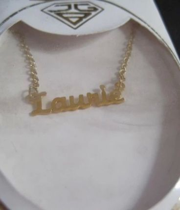 Collier chaine prenons LAURIE