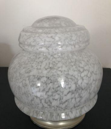 Globe en verre moucheté, années 50