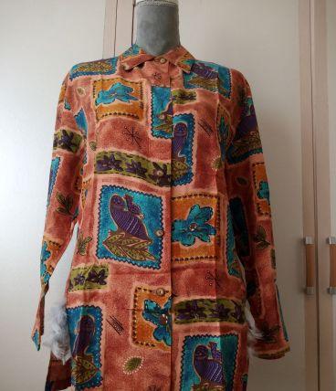 Chemise  droite multicolore Taille 42 création maison