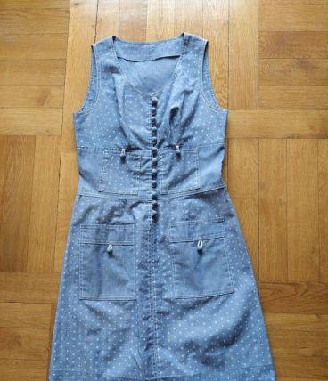Jolie robe d'été vintage 70  Largeur taille 35 cm