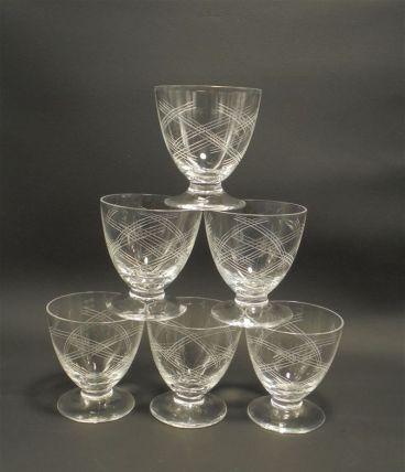 6 anciens petits verres