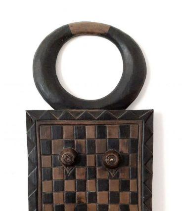 Masque Baoulé type kpan pre à cornes, masque de goli