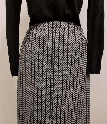 Jupe Mi-Longue Vintage Taille Elastique