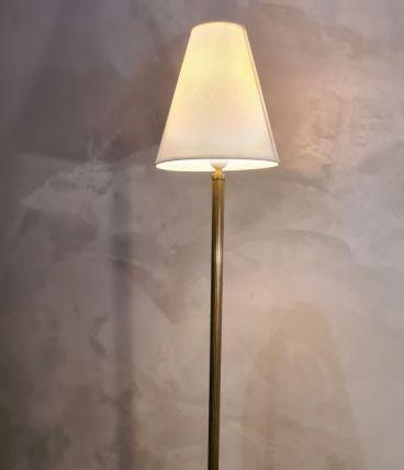 lampadaire fuseaux minimaliste 168x25 bronze et laiton  1950