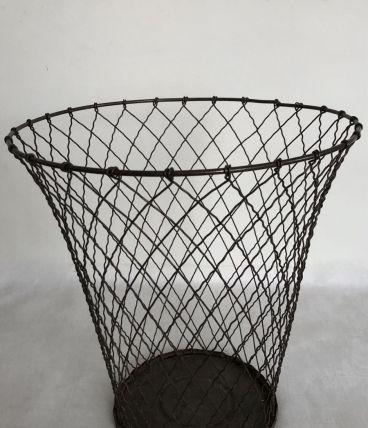 Corbeille à papier en fil de fer tressé